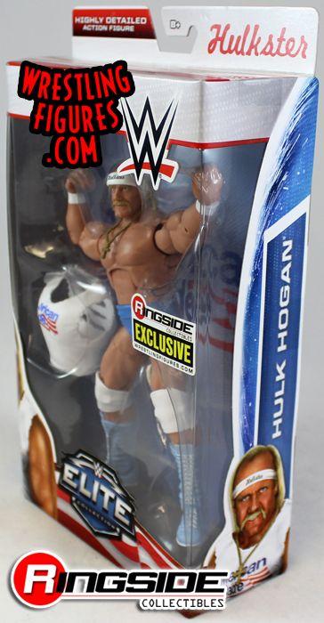 WWE HULK HOGAN FIGURE ELITE AMERICAN MADE RINGSIDE EXCLUSIVE WWF HULKSTER