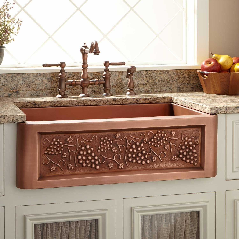 Kupfer Undermount Kitchen Sink Waschbecken Italienische Kuche Waschtisch