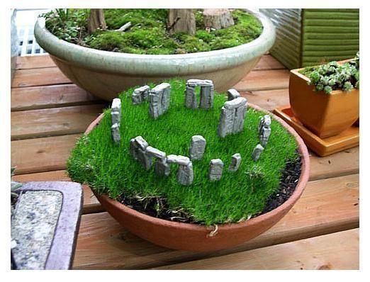 Miniature Stonehenge Garden Miniature Garden Halloween Fairy Garden Fairy Garden