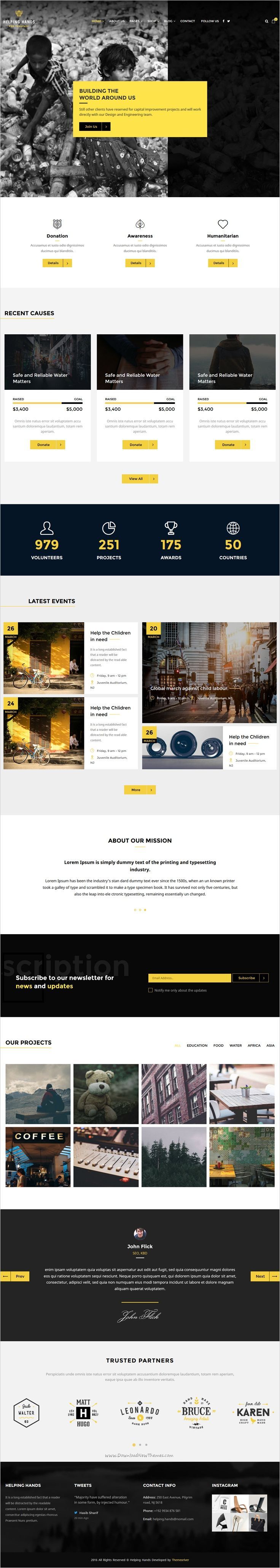 Helping hands is a beautifully design Bootstrap #HTML #theme for charity and non-profit #organization website with 3 amazing homepage layouts download now➯ https://themeforest.net/item/helping-hands-multipurpose-nonprofit-html-template/17130511?ref=Datasata