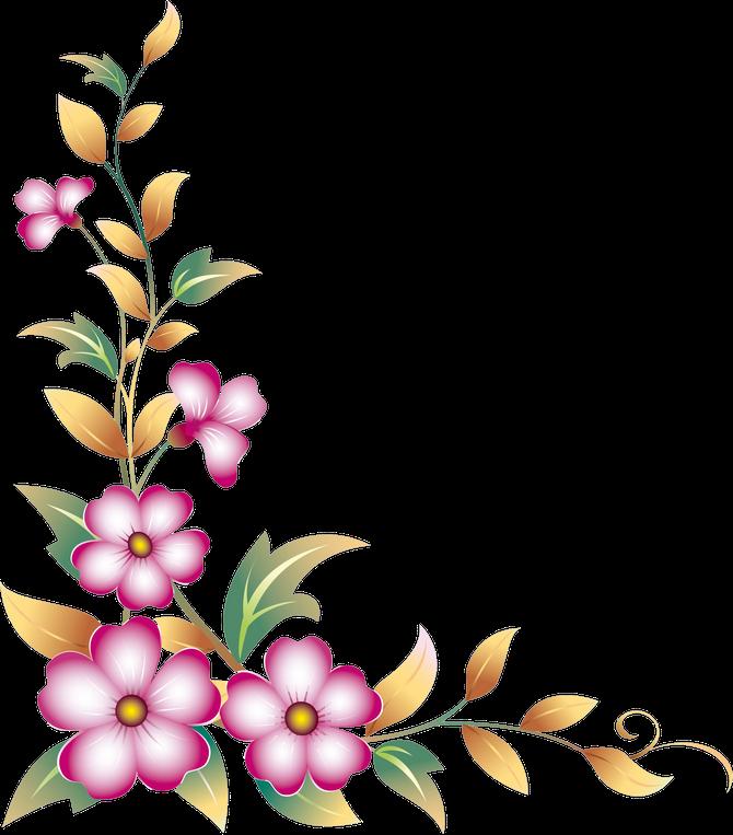 Simple Flower Corner Clipart Clip Art Borders Simple Flowers Flower Clipart