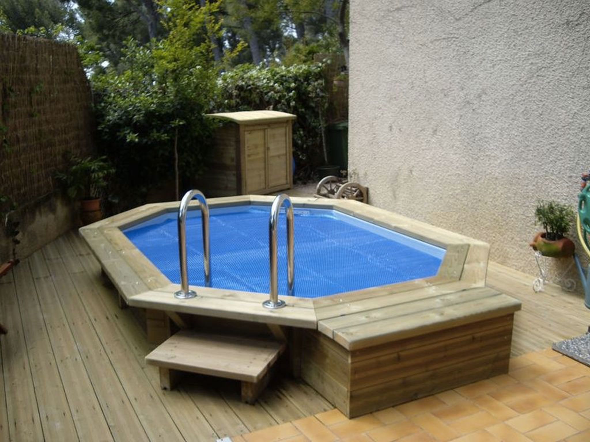 Free piscine semi enterre en bois piscine pinterest with - Entourage piscine hors sol ...