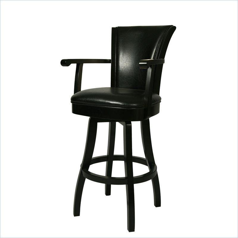 Lowest price online on all Pastel Furniture Glenwood 30\  Swivel Arm Bar Stool in Black & Pastel Furniture Glenwood 30\