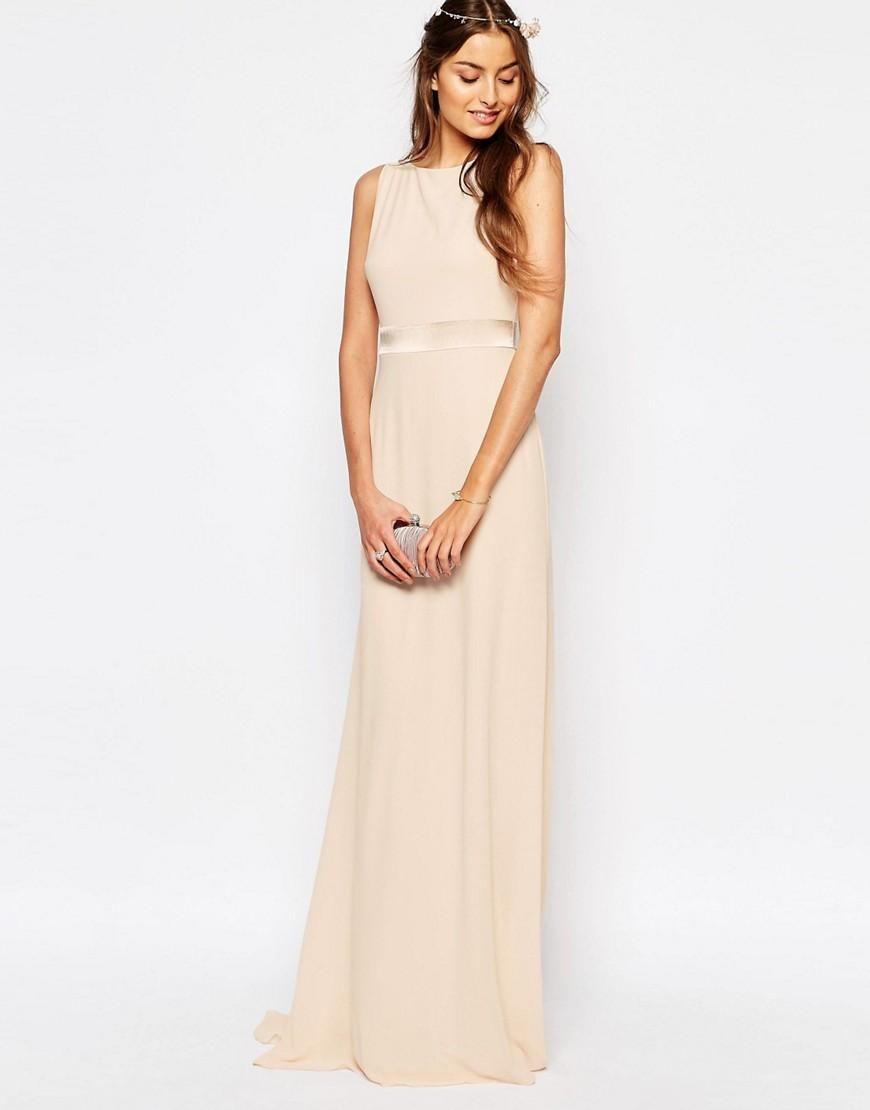 TFNC Tall | TFNC Tall WEDDING Sateen Bow Back Maxi Dress at ASOS ...