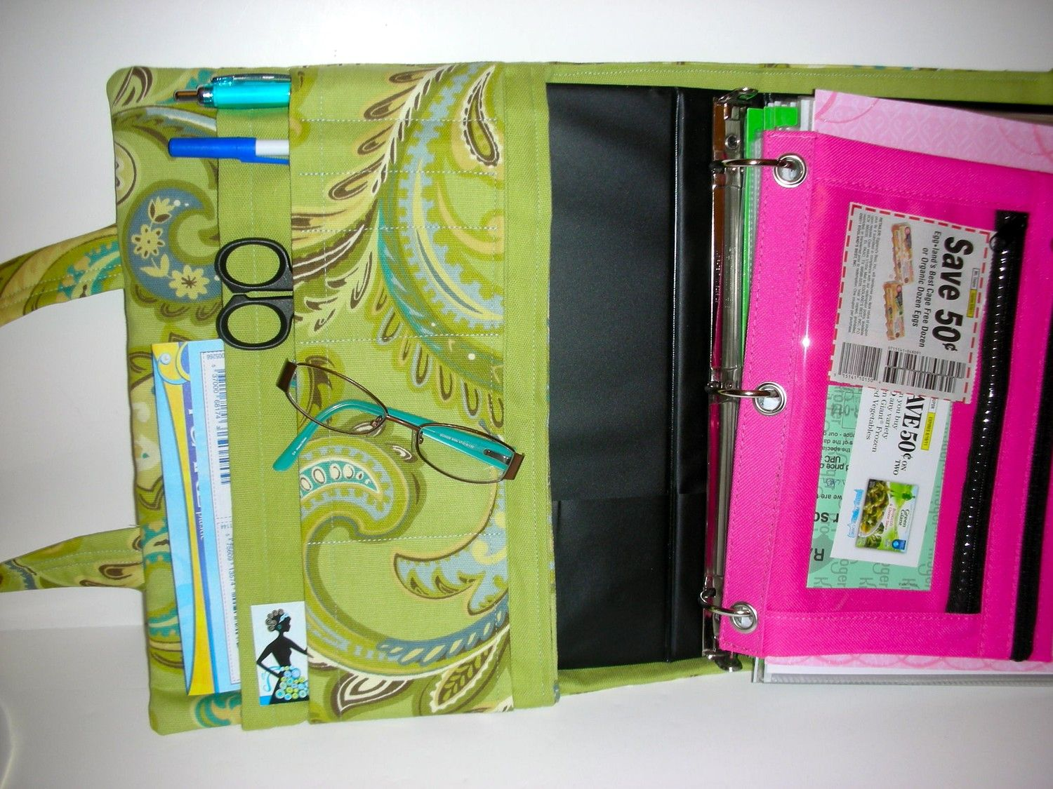 Monogrammed Time to Save Coupon Binder Cover by LBs Sewing