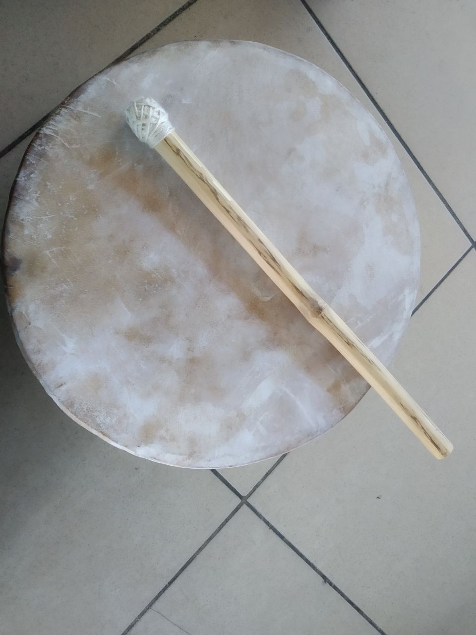 Kultrun. Instrumento tradicional mapuche.