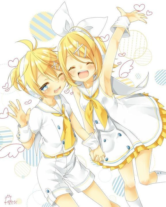 Ảnh Anime Đẹp ( 2 ) - Black Star Rin X Blue Moon Len