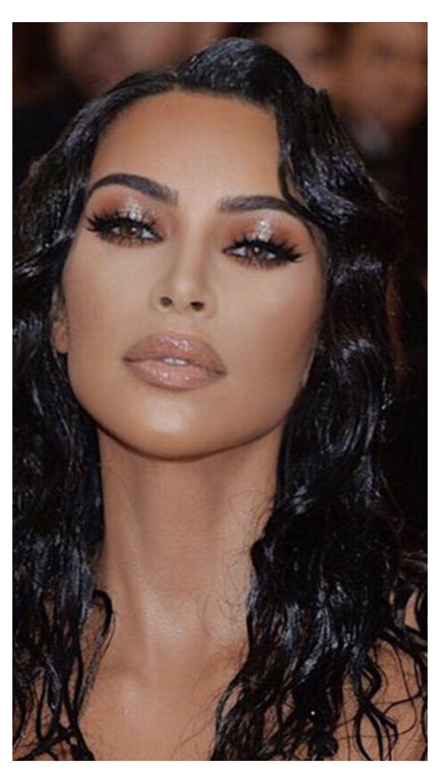 kim k natural makeup eyes