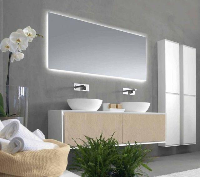 rechteckiger design badspiegel indirekter beleuchtung 2hd rifra,