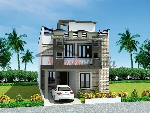 1694small house design house elevation indian for Small house elevation in india