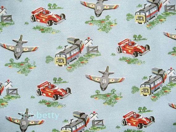 Cath Kidston Cars And Airplanes Boys Canvas 1 Yard By Kokkagirls, $15.00