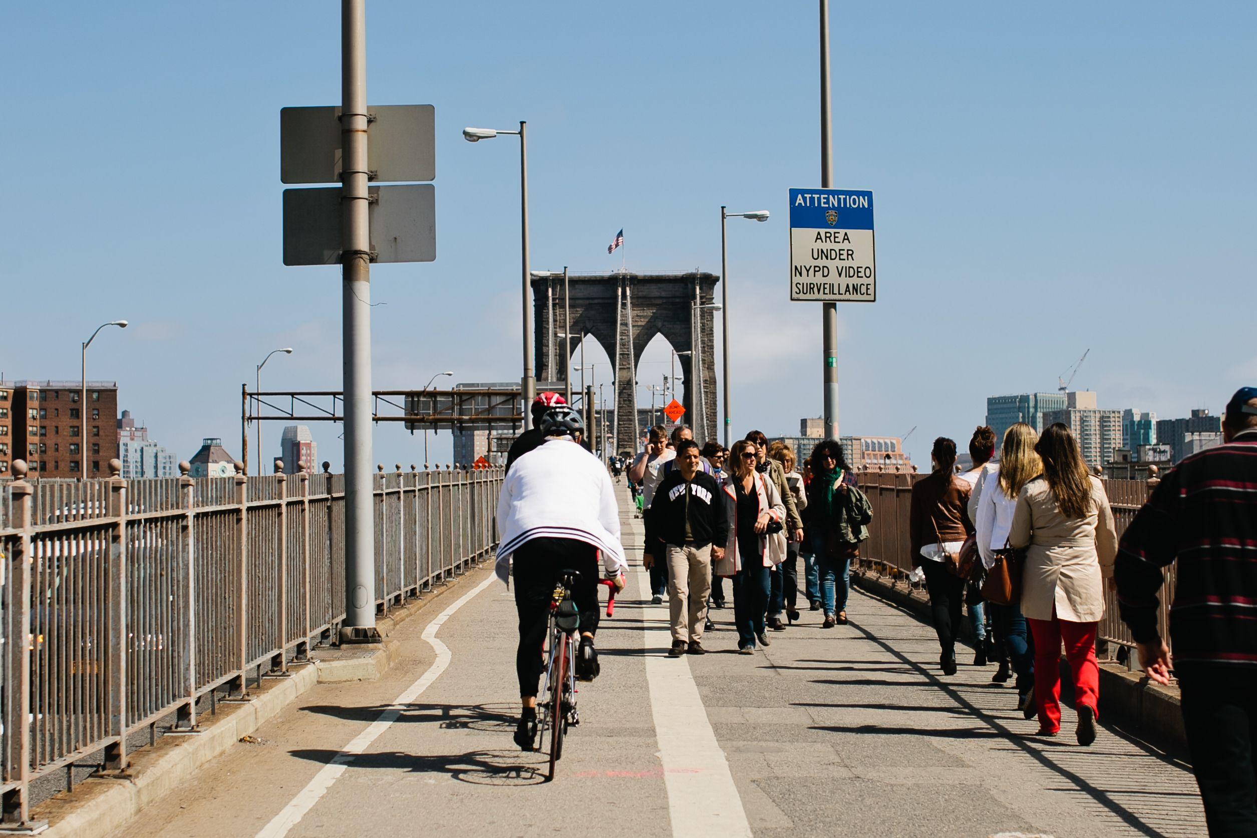 Reason #303 (why we love New York, New York): Bike rides on the Brooklyn Bridge. #Brooklyn #NYC #love #365 #MandarinOriental