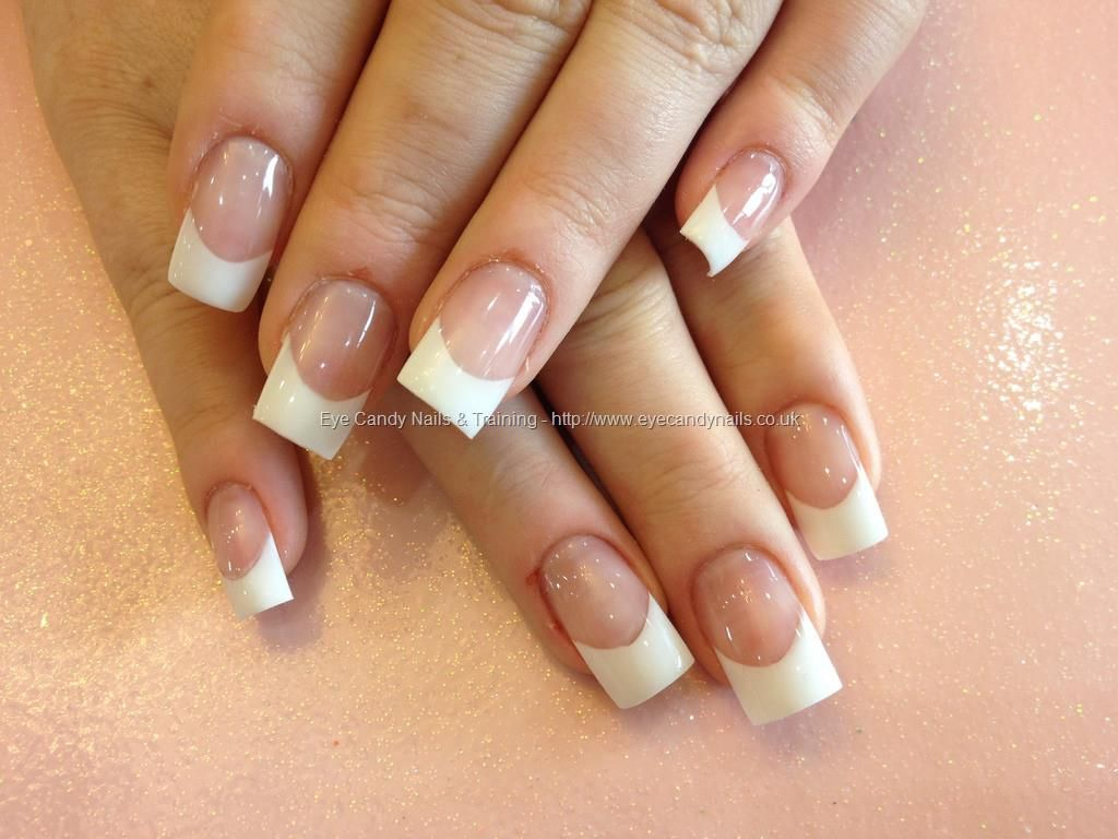 Acrylic nails with white tips | nails | Pinterest | Double team ...