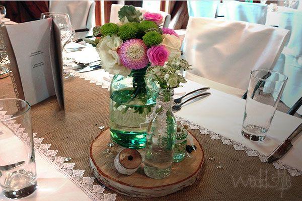 Vintage Jute Tischl Ufer Weddstyle Deko Hochzeit