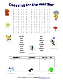 esl printable worksheets weather months clothes seasons english vocabulary weather theme. Black Bedroom Furniture Sets. Home Design Ideas