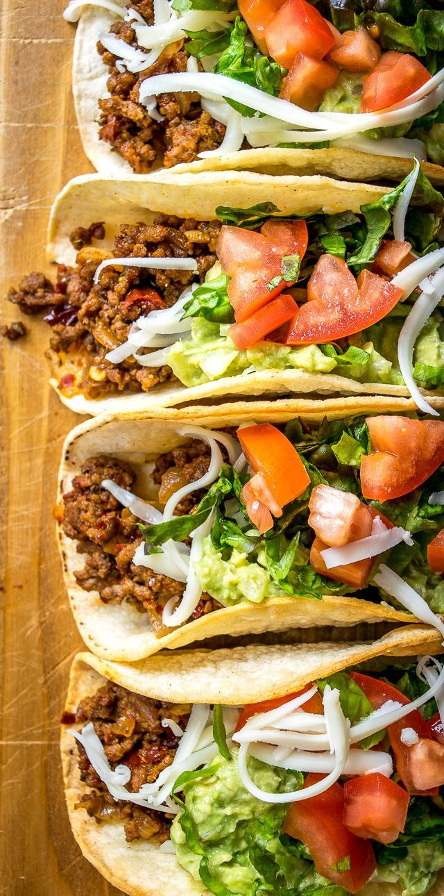 Classic Ground Beef Hardshell Tacos Mexican Please Ground Beef Recipes Easy Tacos Beef Beef Tacos Recipes