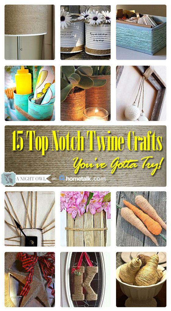 15 Top Notch Twine Crafts Diy Pinterest Twine Crafts Twine