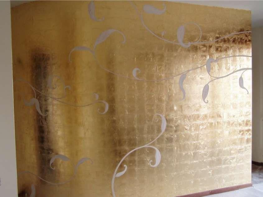 Parete Doro : Decorazione pareti con foglia doro decorare pareti decorate walls