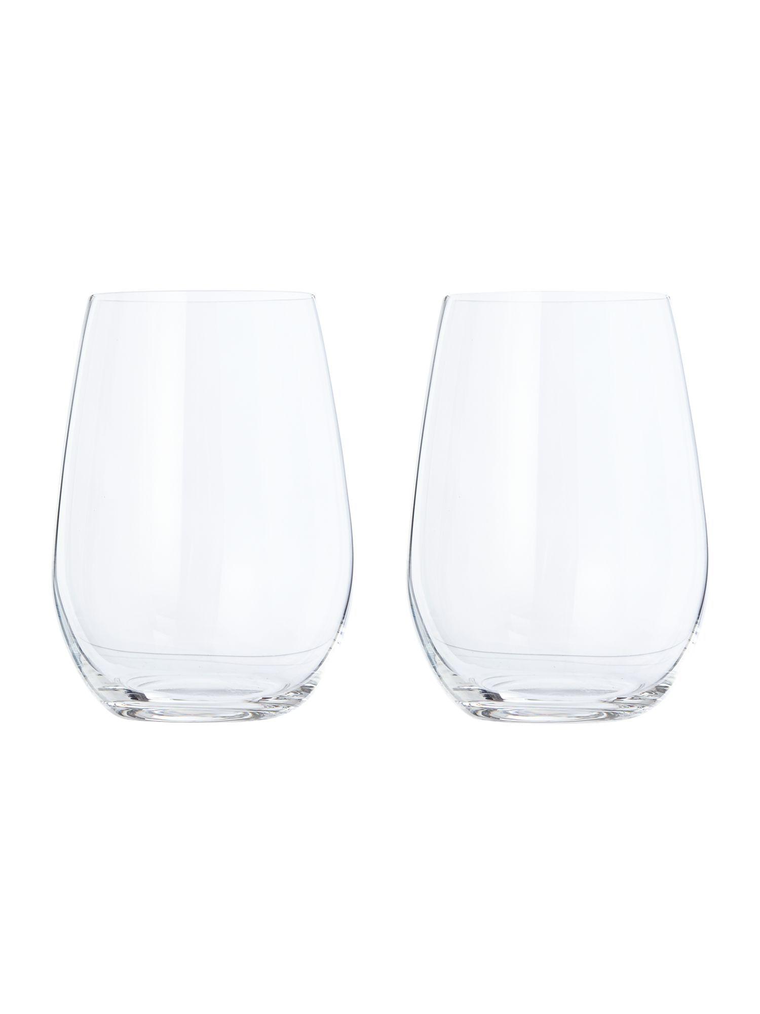 1b3182cd8e4 Riedel O Stemless Sauvignon/riesling Wine Glass Set Of 2 - House of ...