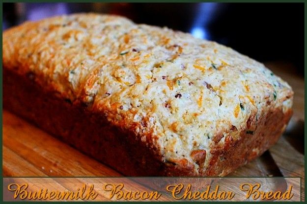 Buttermilk Bacon Cheddar Bread http://www.momspantrykitchen.com/buttermilk-bacon-cheddar-bread.html
