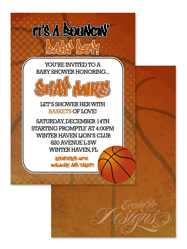 NBA Basketball - Digital Birthday Party or Baby Shower Invitation ...