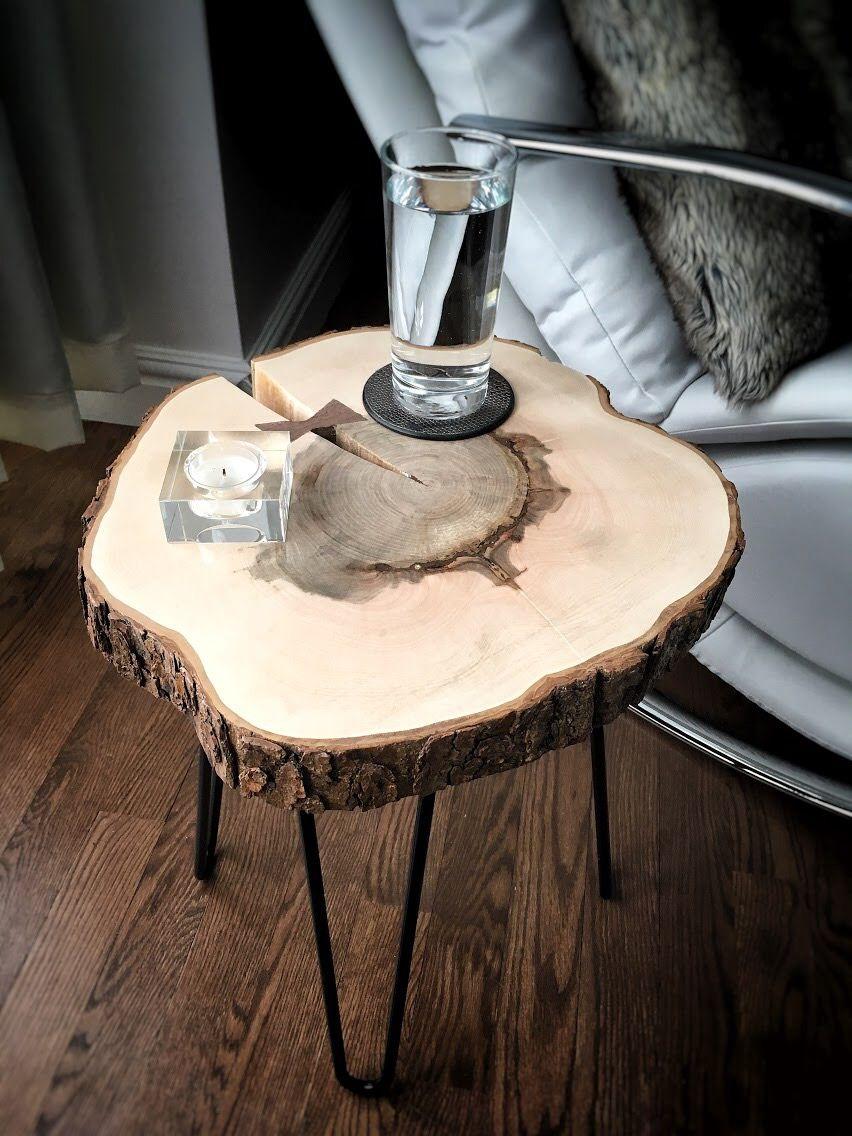 Wood Log Table Table En Rondin De Bois Table Woodtable Wood Furniture Avec Images Rondin De Bois Table En Buche Table Basse Bois