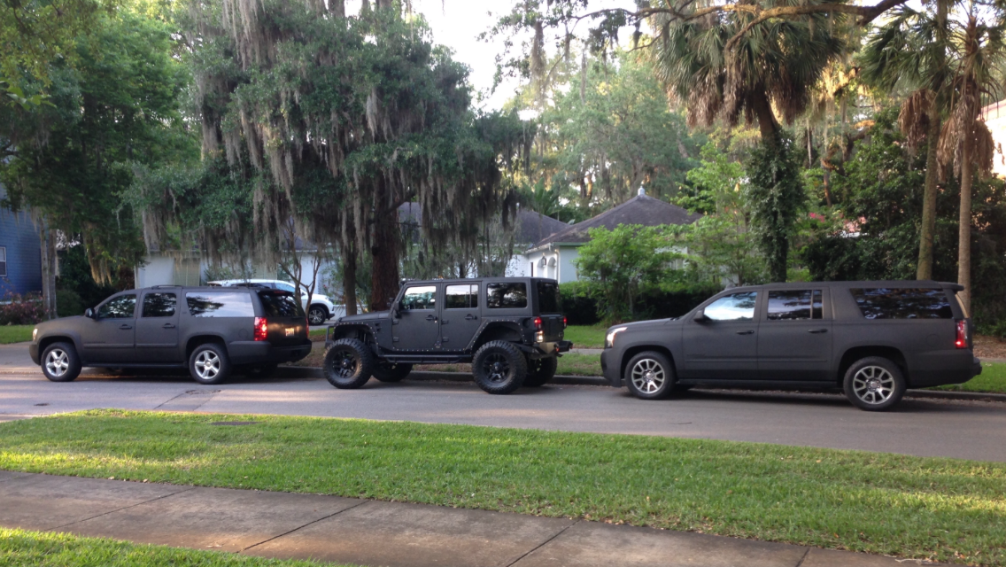 Matte Black Line X Chevrolet Suburban Jeep Wrangler And Gmc Yukon