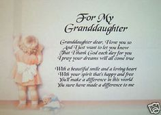 Poems for 18th birthday granddaughter personalised poem for Birthday gifts for grandma from granddaughter