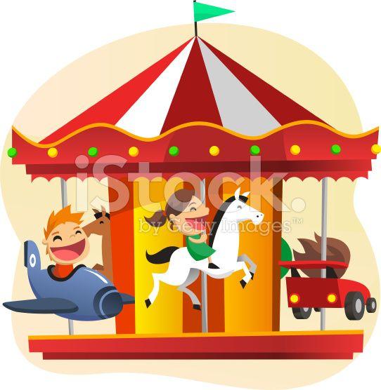 Stock Illustration 16384811 Merry Go Round Amusement Park