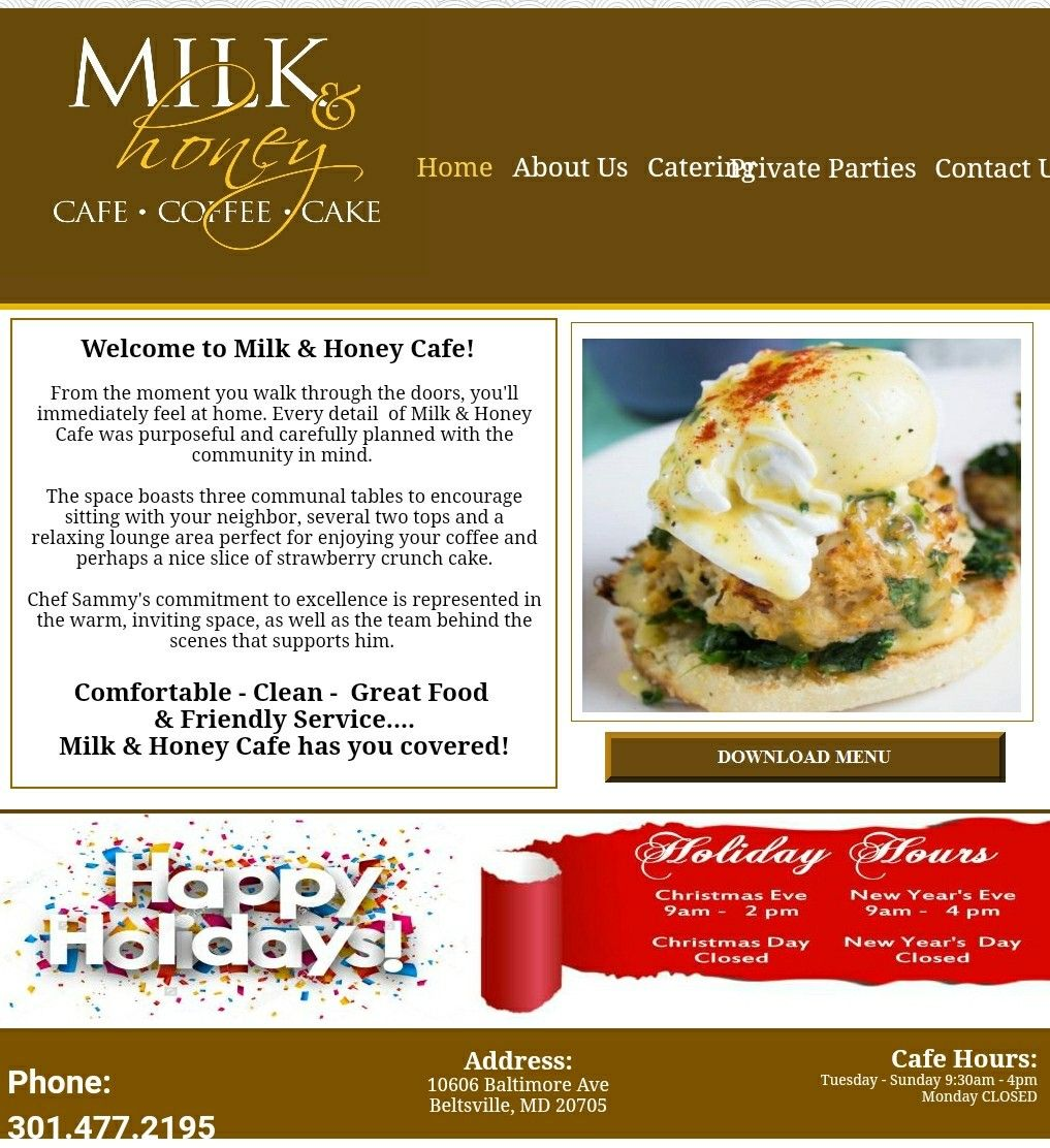 I hear the brunch is amazing Milk and Honey cafe in Beltsville Maryland   Honey cafe, Milk and ...