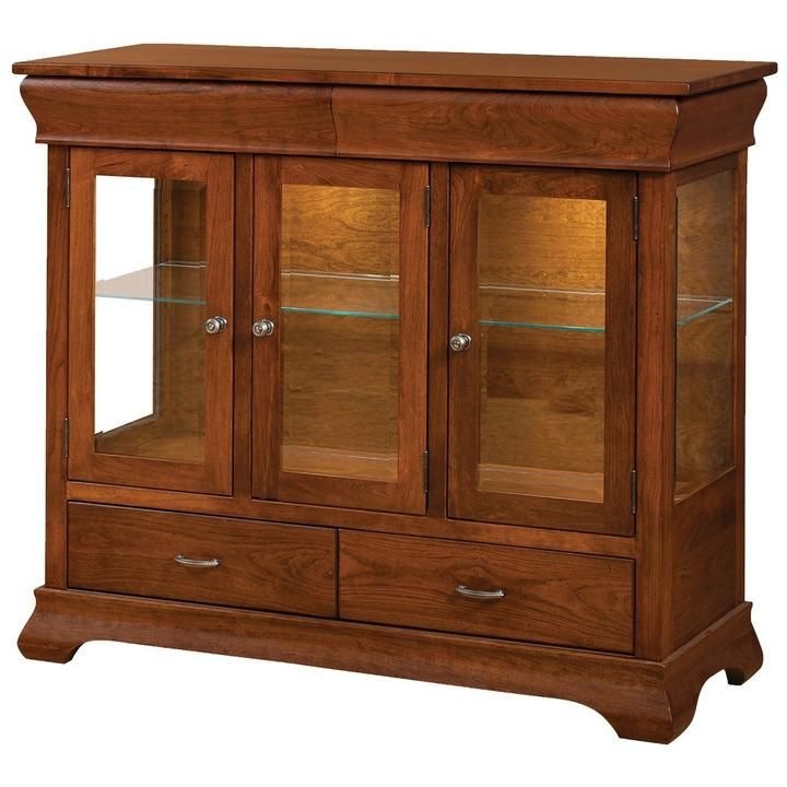 Hyde Park High Buffet is part of Living Room Storage Buffet -  Standard features include LED LightingUndermount Soft Close DrawerSoft Close Hinges View our available our wood types and finishes  Lead time 810 weeks does not include shipping  Buffet 47 h x 20 d  Constructed of 100% American Hardwoods