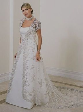 Plus Size Vow Renewal Dress Wedding With Sleeves