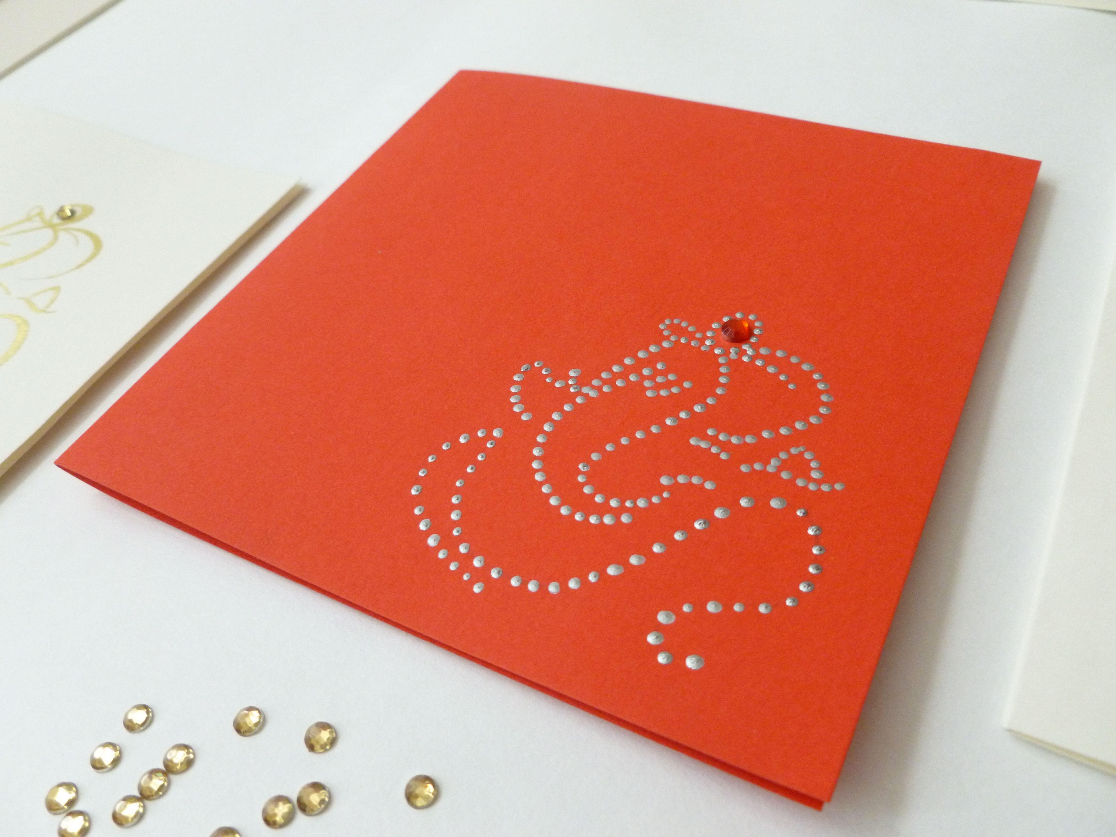 Handpainted modern ganesh invitation cards | GANESHA THE LOVING LORD ...
