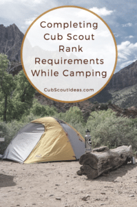 Cub Scout Requirements Camping