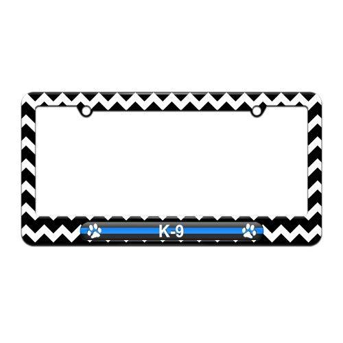 Thin Blue Line K-9 Unit Paw Prints - Police - License Plate Tag ...