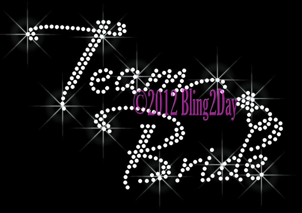 Bride Groom Party Iron On Rhinestone Transfer for Shirts Bling Diamond Ring