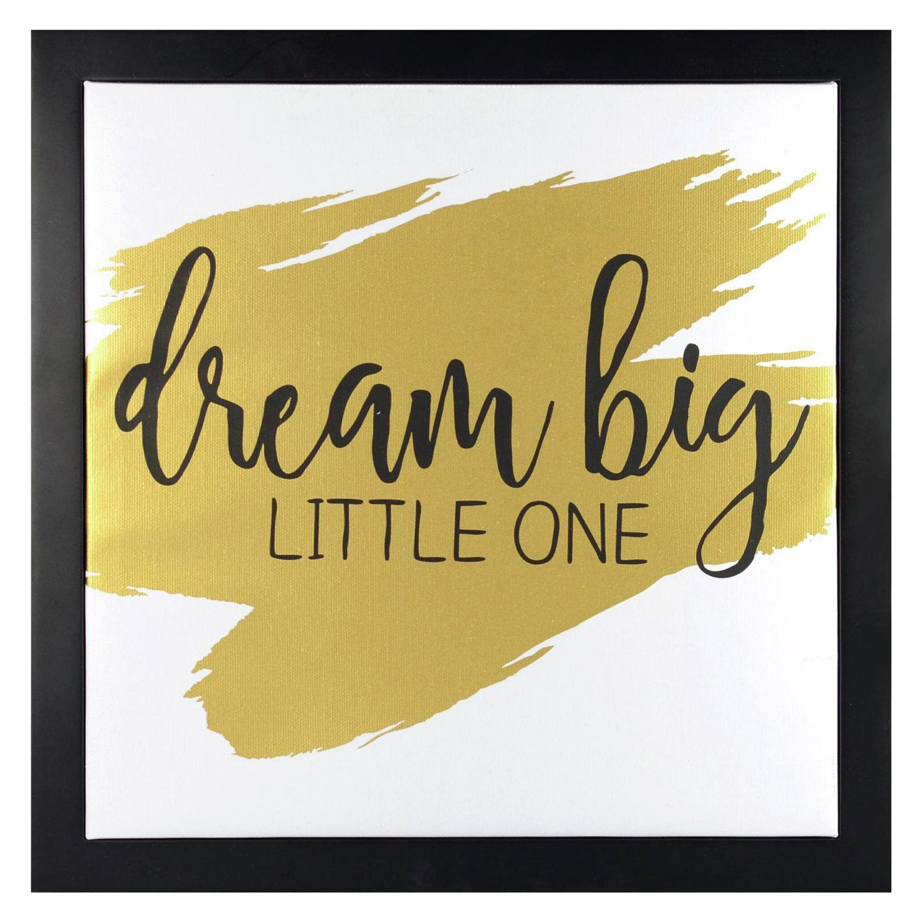 Linden Ave Dream Big Little One - Gold Framed Canvas Float with ...