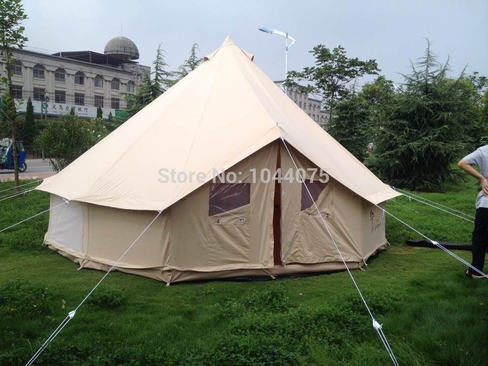 Danchel Waterproof 4m Bell Tent Canvas Yurt Tent Canvas Tipi Tent For Sale In Tents From Sports Entertainment On Aliexpress C Tent Tent Sale Canvas Bell Tent