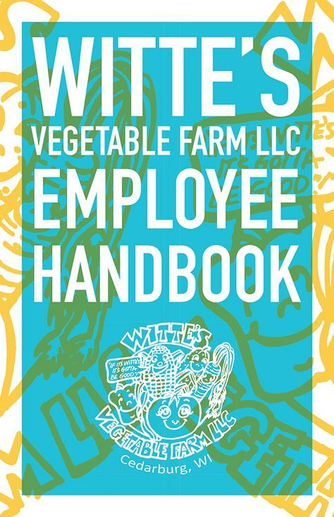 WitteS Vegetable Farm On Behance  Employee Handbook Design