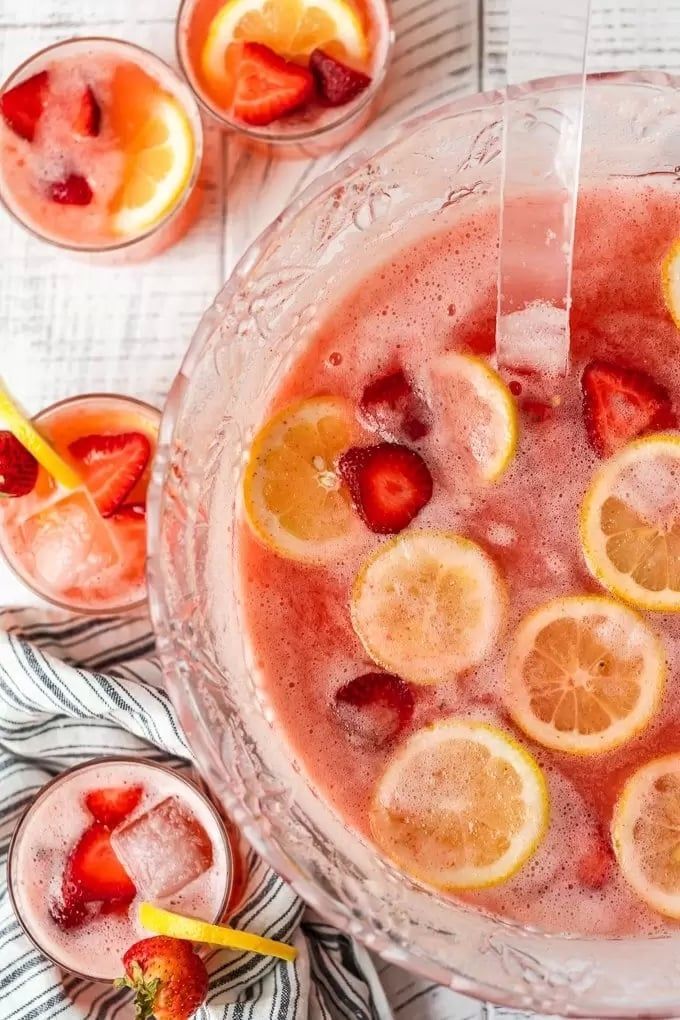 Strawberry Lemonade Party Punch