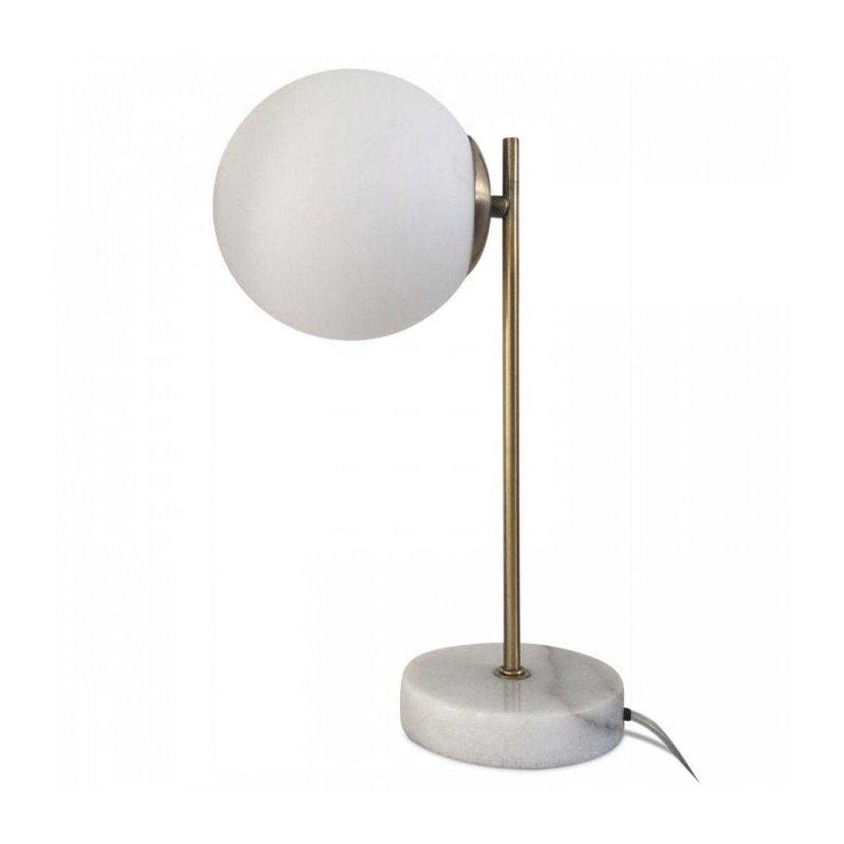Lampe A Poser Retro En Marbre Blanc Laiton Et Verre Marbre Blanc Lampe De Chevet Tactile Lampe A Poser
