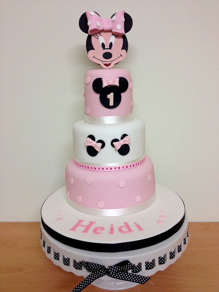 Minnie Mouse 1st Birthday Cake Minnie mouse birthday cakes Minnie