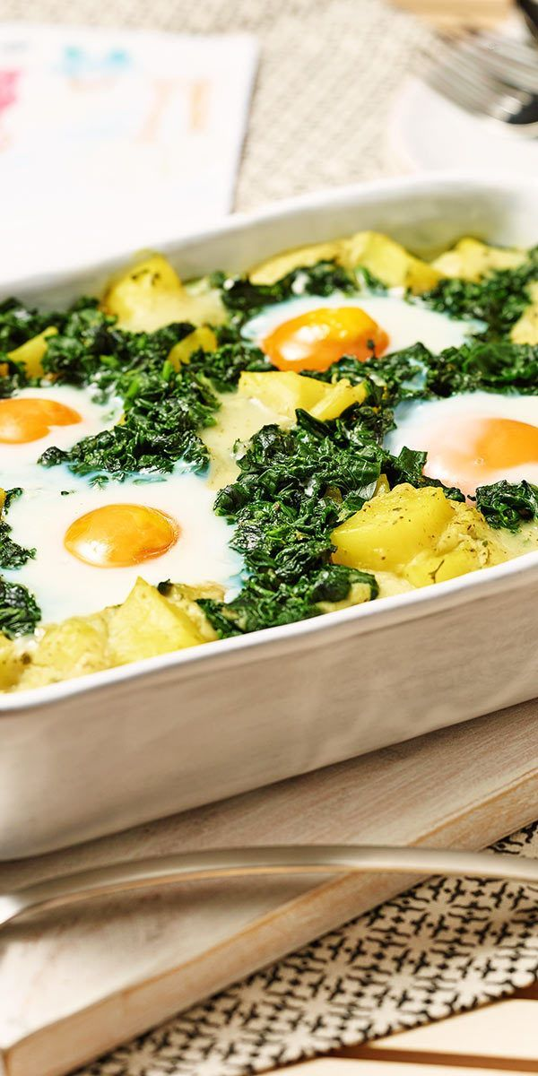 Photo of Fried egg gratin with spinach