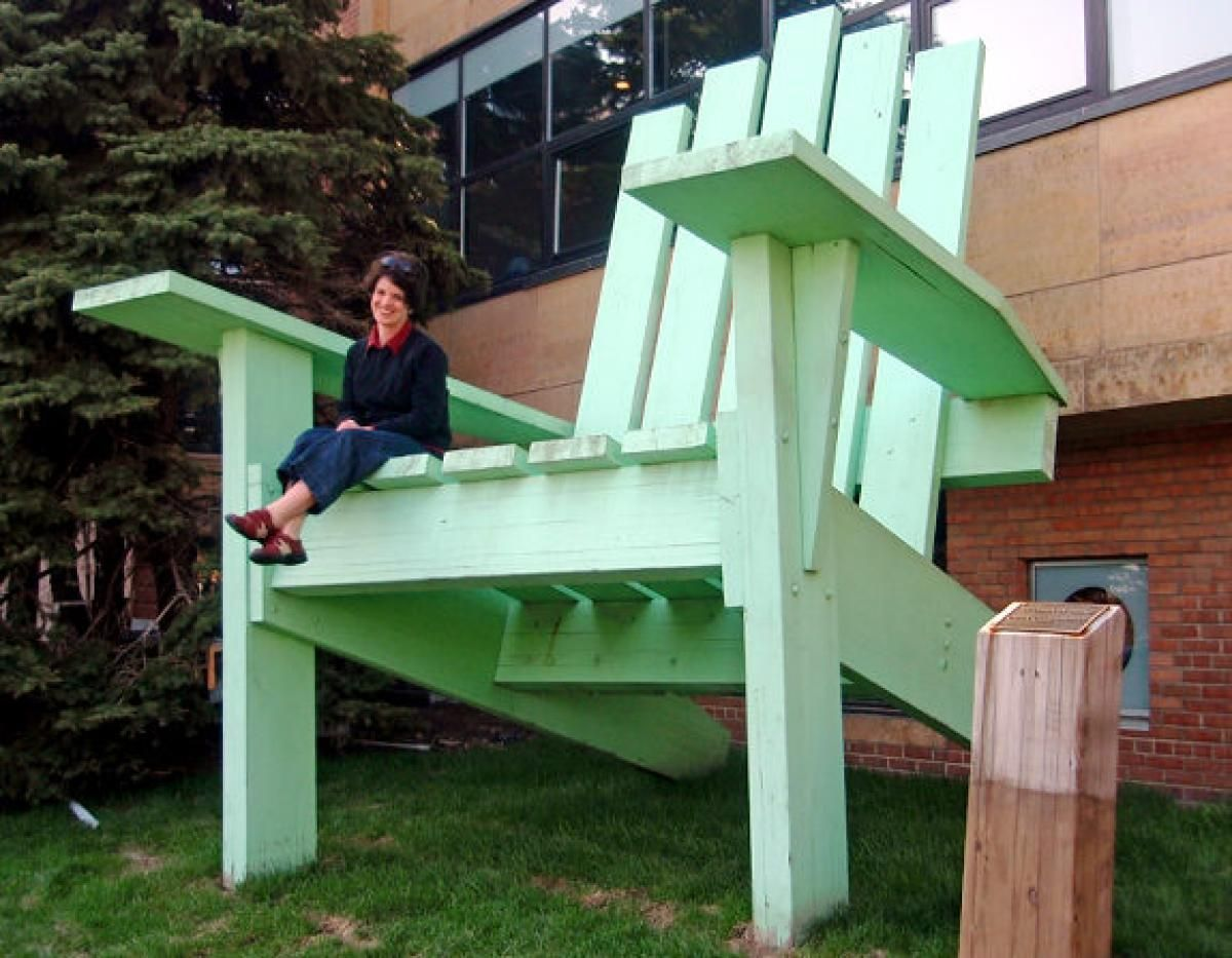 These Giant Adirondack Chairs May Not Be The Best For Lounging On Your  Porch, But