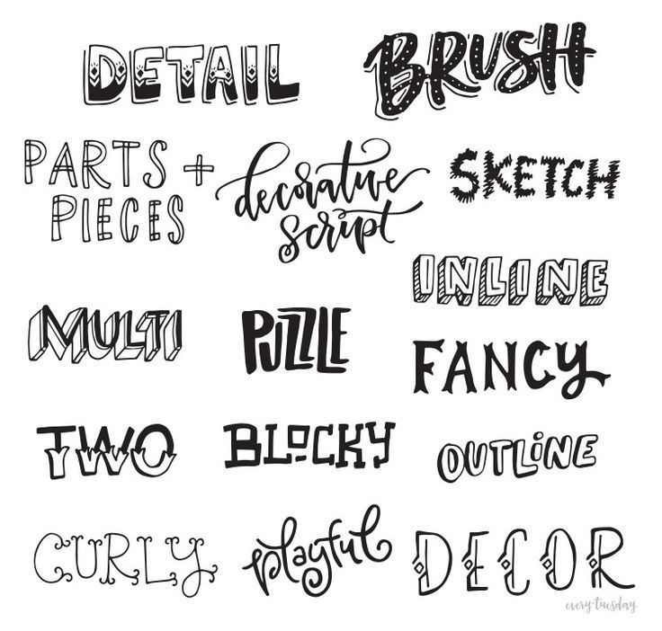 Freebie Hand Lettering Style Inspiration Guide Hand Lettering
