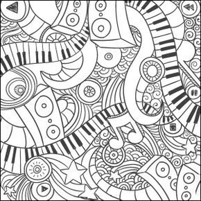 Music Doodle Coloring Page Craft Haven Square 3 Free Music Coloring Music Coloring Sheets Coloring Pages