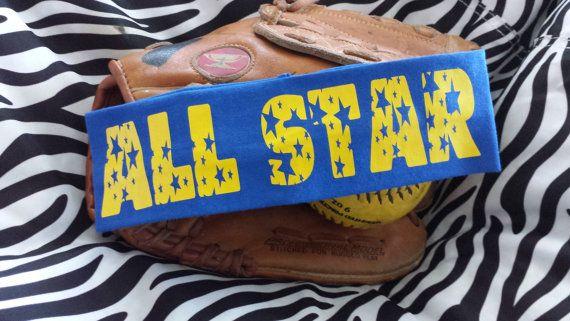All Star Sports Headband Personalized and Custom by OCSportsCloset
