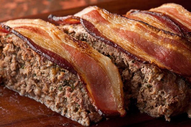 Bacon-Cheddar Meatloaf: I pulled from Epic Meal Time and topped it with a bacon ...   - Recipes to try :) -