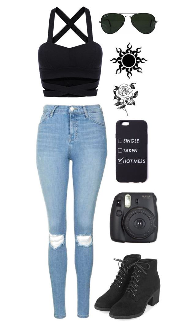 """""""Untitled #120"""" by aalinalove ❤ liked on Polyvore featuring Topshop, Ray-Ban and Forever 21"""