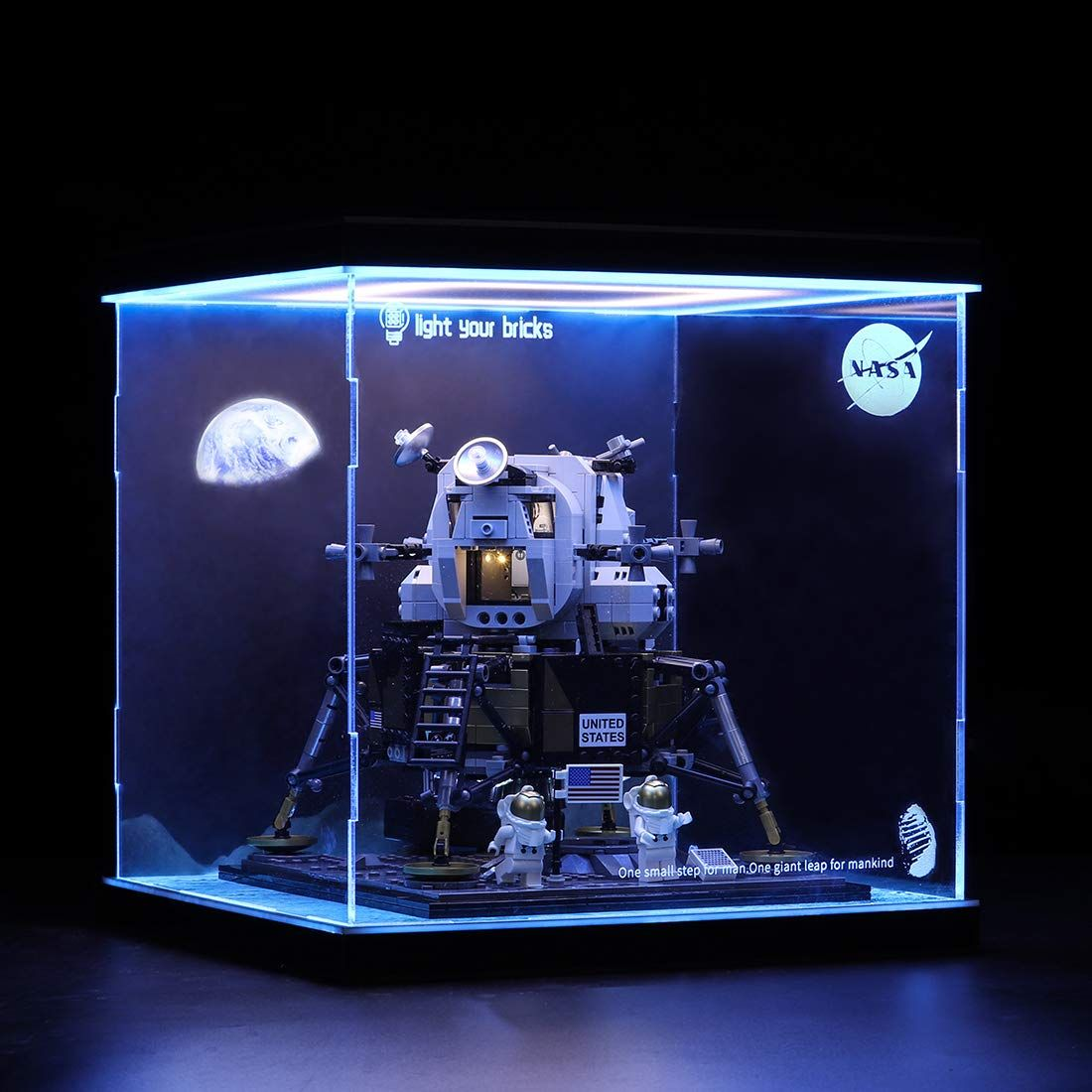 poxl display case vitrine f r lego nasa